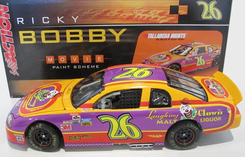 2006 Ricky Bobby NASCAR Diecast 26 Laughing Clown 2005 CWC 1:24 Action ARC 1