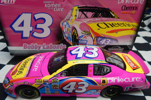 2007 Bobby Labonte NASCAR Diecast 43 Cheerios Pink Breast Cancer CWC 1:24 Action ARC 1