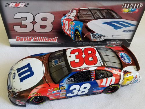 2007 David Gilliland NASCAR Diecast 38 M&Ms July 4th CWC 1:24 Action ARC 1