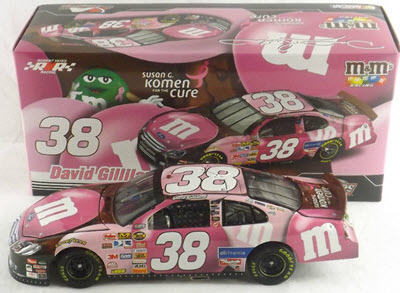 2007 David Gilliland NASCAR Diecast 38 M&Ms M&M Pink Komen Breast Cancer CWC 1:24 Action ARC 1
