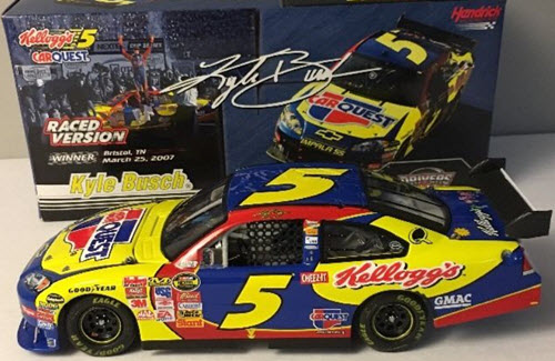 2007 Kyle Busch NASCAR Diecast 5 Car Quest Bristol Win Raced Version CWC 1:24 Action ARC 1