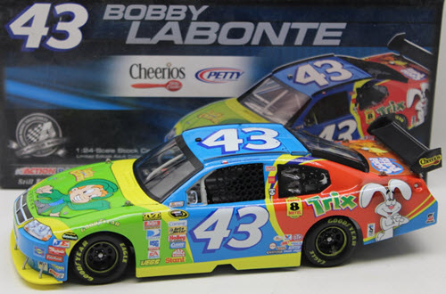 2008 Bobby Labonte NASCAR Diecast 43 Cheerios General Mills Characters Lucky Charms CWC 1:24 Action ARC 1