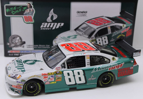 2008 Dale Earnhardt Jr NASCAR Diecast 88 Amp Ride Along With Junior White CWC 1:24 Action ARC 1