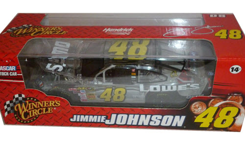 2008 Jimmie Johnson NASCAR Diecast 48 Lowes CWC 1:24 Winners Circle Clear Car 1