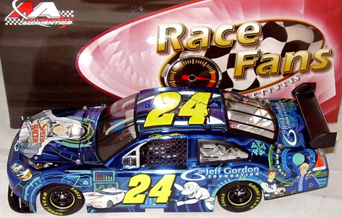 2009 Jeff Gordon NASCAR Diecast 24 Speed Racer CWC 1:24 QVC RFO Race Fans Only Color Chrome 1