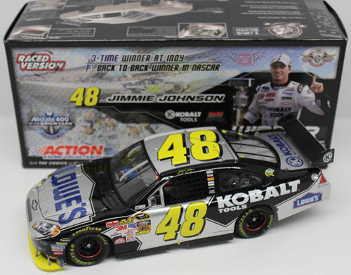2009 Jimmie Johnson NASCAR Diecast 48 Kobalt Brickyard Indy Win Raced Version CWC 1:24 Action ARC 1