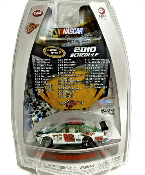 2010 Dale Earnhardt Jr NASCAR Diecast 88 Amp Energy CWC 1:64 Winners Circle Hood Schedule 1