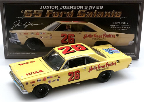 2011 Junior Johnson NASCAR Diecast 26 Holly Farms 1965 Galaxie CWC 1:24 University Of Racing 1
