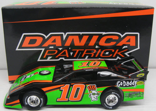 2012 Danica Patrick NASCAR Diecast 10 Go Daddy GoDaddy CWC 1:24 Action ADC Prelude Eldora Late Model Dirt Car 1