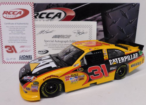 2012 Jeff Burton NASCAR Diecast 31 CAT Caterpillar CWC 1:24 Action RCCA Elite Autographed 1
