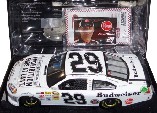 2012 Kevin Harvick NASCAR Diecast 29 Bud Budweiser Prohibition CWC 1:24 Lionel Action RCCA Elite 1