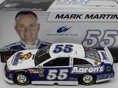 2013 Mark Martin NASCAR Diecast 55 Aarons CWC 1:24 Lionel Action ARC 1