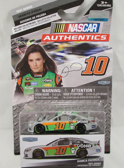 2014 Danica Patrick Diecast 10 Go Daddy CWC 1:64 Action NASCAR Authentics Test Series 1
