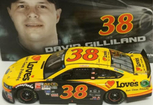 2015 David Gilliland NASCAR Diecast 38 Loves Travel Stops CWC 24 Lionel Action ARC 1