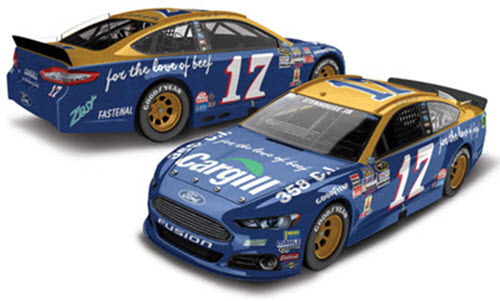 2015 Ricky Stenhouse NASCAR Diecast 17 Cargill Darlington Retro Throwback CWC 1:24 Lionel Action ARC Autographed Signed 99