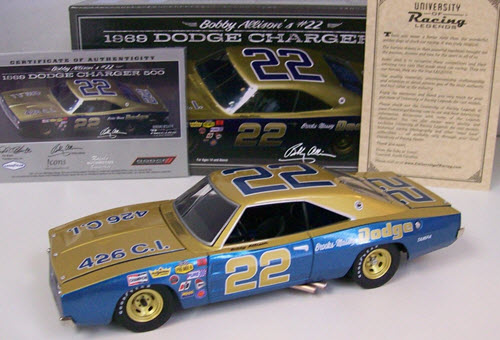 2016 Bobby Allison NASCAR Diecast 22 Brooks Massey Dodge 1969 Charger CWC 1:24 University of Racing 1