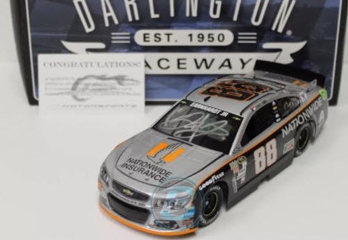 2016 Dale Earnhardt Jr NASCAR Diecast 88 Nationwide Insurance Darlington Throwback Gray Ghost 1:24 CWC Lionel Action ARC Autographed Signed 1