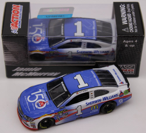 2016 Jamie McMurray NASCAR Diecast 1 Sherwin Williams 150th CWC 1:64 Lionel Action ARC 1