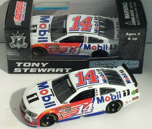 2016 Tony Stewart NASCAR Diecast 14 Mobil 1 CWC Lionel Action ARC 1