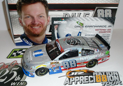 2017 Dale Earnhardt Jr NASCAR Diecast 88 Nationwide Insurance 25th Carreer Win 1:24 CWC Lionel Action ARC Flashcoat 1