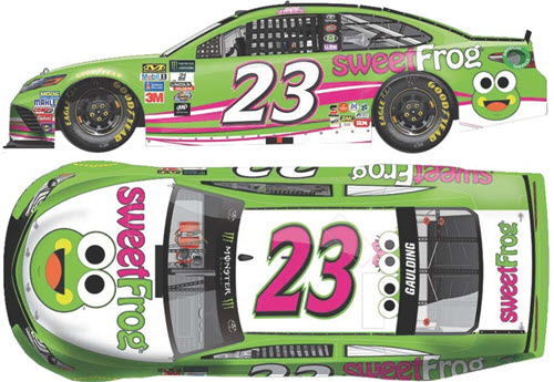2017 Gray Gaulding NASCAR Diecast 23 Sweet Frog CWC 1:24 Lionel Action ARC