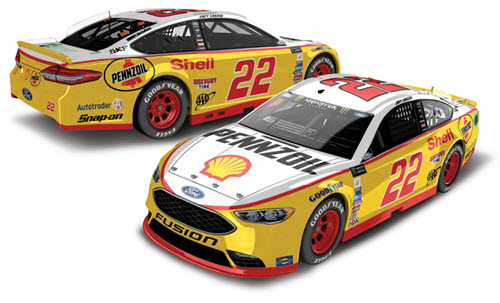 2017 Joey Logano NASCAR Diecast 22 Shell Pennzoil Darlington Retro Throwback CWC 1:24 Lionel Action ARC Color Chrome 98