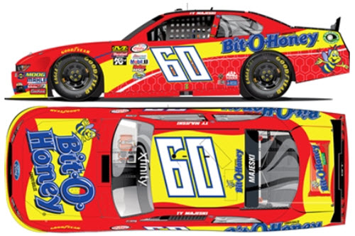 2017 Ty Majeski NASCAR Diecast 60 Bit O Honey CWC 1:64 Lionel Action ARC 1