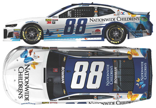 2018 Alex Bowman NASCAR Diecast 88 Nationwide Childrens Hospital CWC 1:24 Lionel Action ARC Color Chrome 99