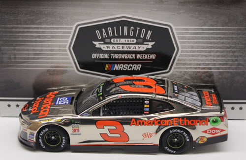 2018 Austin Dillon NASCAR Diecast 3 E15 American Ethanol Darlington Throwback Retro CWC 1:24 Lionel Action ARC Color Chrome 1