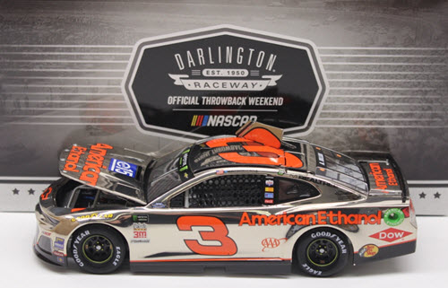 2018 Austin Dillon NASCAR Diecast 3 E15 American Ethanol Darlington Throwback Retro CWC 1:24 Lionel Action ARC Color Chrome 1b