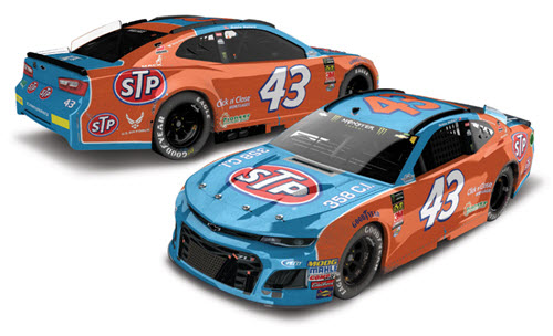 2018 Bubba Wallace NASCAR Diecast 43 STP Darlington Throwback Raced Version CWC 1:24 Lionel Action RCCA Elite Color Chrome 98