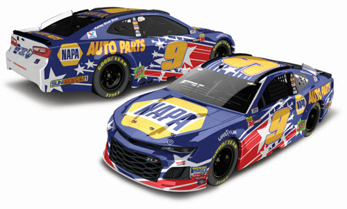 2018 Chase Elliott NASCAR Diecast 9 NAPA Patriotic Salute CWC 1:24 Lionel Action RCCA Elite Galaxy 99