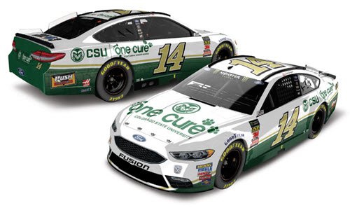 2018 Clint Bowyer NASCAR Diecast 14 One Cure Animal Cancer Center CWC 1:24 Lionel Action ARC Color Chrome 99