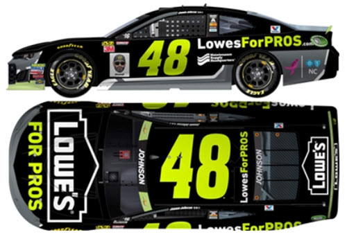 2018 Jimmie Johnson NASCAR Diecast 48 Lowes For Pros Maintenance Supply CWC 1:24 Lionel Action RCCA Elite Color Chrome 99