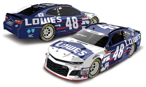 2018 Jimmie Johnson NASCAR Diecast 48 Lowes Patriotic American Salute CWC 1:24 Lionel Action RCCA Elite Galaxy 98