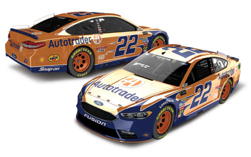 2018 Joey Logano NASCAR Diecast 22 Auto Trader CWC 1:24 Lionel Action ARC Color Chrome 98
