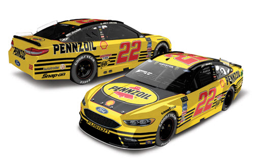 2018 Joey Logano NASCAR Diecast 22 Pennzoil Darlington Retro Throwback CWC 1:24 Lionel Action ARC Color Chrome 99