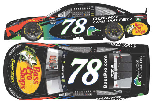 2018 Martin Truex Jr NASCAR Diecast 78 Bass Pro Ducks Unlimited CWC 1:24 Lionel Action ARC Color Chrome 99
