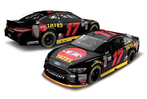 2018 Ricky Stenhouse Jr NASCAR Diecast 17 Robert Yates RYR Tribute CWC 1:24 Lionel Action ARC Color Chrome Autographed 98