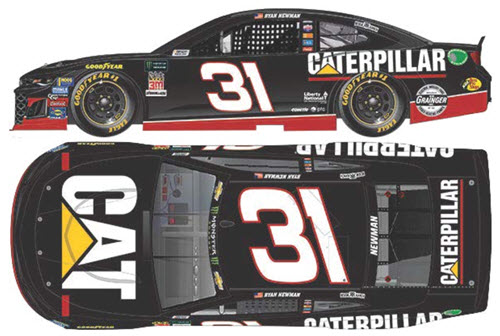 2018 Ryan Newman NASCAR Diecast 31 CAT Caterpillar Darlington Throwback Retro CWC 1:24 Lionel Action RCCA Elite 99
