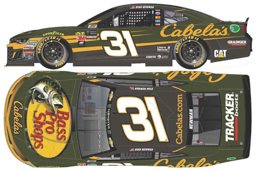2018 Ryan Newman NASCAR Diecast 31 Cabelas Cabellas CWC 1:24 Lionel Action ARC Color Chrome 99