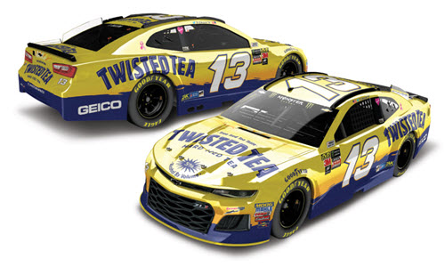 2018 Ty Dillon NASCAR Diecast 13 Twisted Tea CWC 1:24 Lionel Action ARC Color Chrome 98