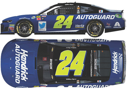 2018 William Byron NASCAR Diecast 24 Hendrick Autoguard CWC 1:24 Lionel Action RCCA Elite Liquid Color 99