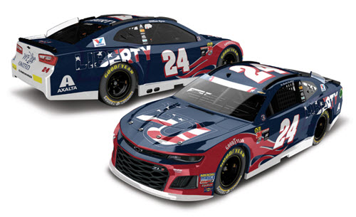 2018 William Byron NASCAR Diecast 24 Liberty University Patriotic Salute CWC 1:24 Lionel Action RCCA Elite 99