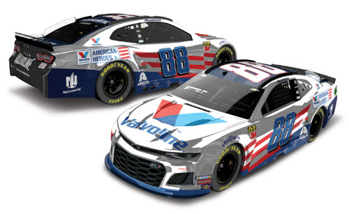 2019 Alex Bowman NASCAR Diecast 88 Valvoline Patriotic CWC 1:24 Lionel Action RCCA Elite Color Chrome 99