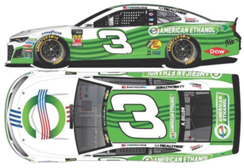 2019 Austin Dillon NASCAR Diecast 3 American Ethanol CWC 1:24 Lionel Action ARC Color Chrome 99