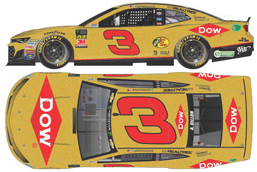 2019 Austin Dillon NASCAR Diecast 3 Dow RCR 50th Anniversary CWC 1:24 Lionel Action ARC Color Chrome 99