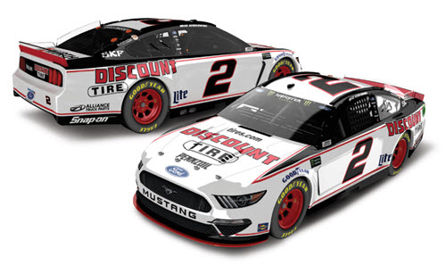 2019 Brad Keselowski NASCAR Diecast 2 Discount Tire 1:24 Lionel Action RCCA Elite Color Chrome 99