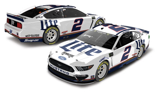 2019 Brad Keselowski NASCAR Diecast 2 Miller Lite 1:24 Lionel Action ARC Color Chrome 99