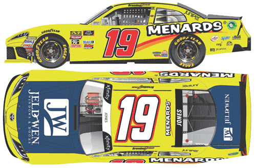 2019 Brandon Jones NASCAR Diecast 19 Menards Jeld Wen CWC 1:24 Lionel Action ARC 99